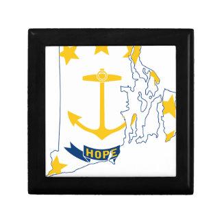 Flag Map Of Rhode Island Gift Box