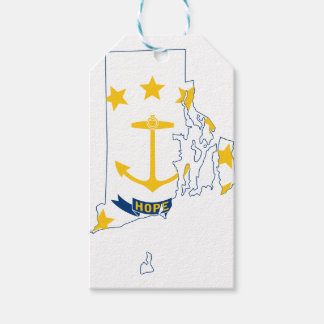 Flag Map Of Rhode Island Gift Tags