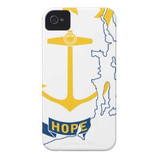 Flag Map Of Rhode Island iPhone 4 Case-Mate Case