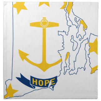 Flag Map Of Rhode Island Napkin