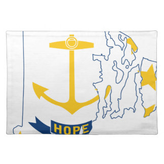 Flag Map Of Rhode Island Placemat