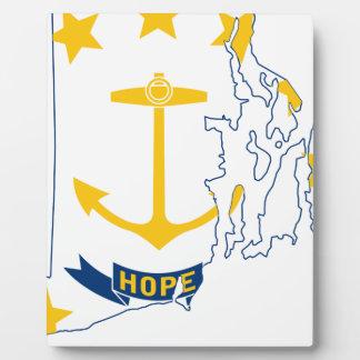 Flag Map Of Rhode Island Plaque