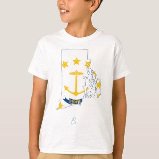 Flag Map Of Rhode Island T-Shirt