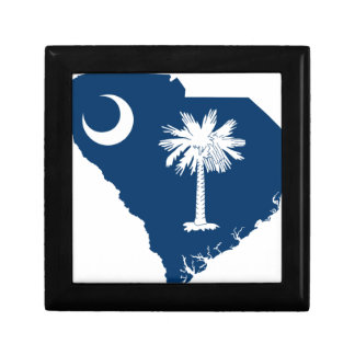 Flag Map Of South Carolina Gift Box