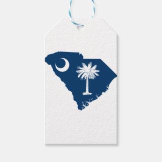 Flag Map Of South Carolina Gift Tags