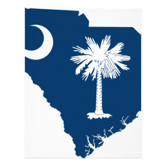 Flag Map Of South Carolina Letterhead
