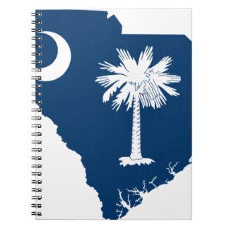 Flag Map Of South Carolina Notebook