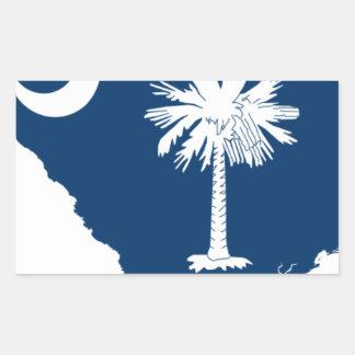 Flag Map Of South Carolina Sticker