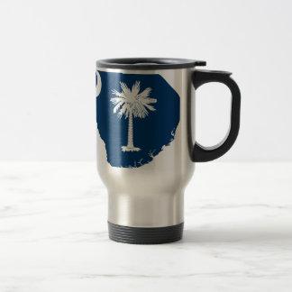 Flag Map Of South Carolina Travel Mug