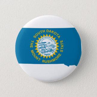 Flag Map Of South Dakota 2 Inch Round Button