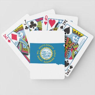 Flag Map Of South Dakota Bicycle Playing Cards