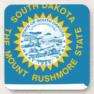 Flag Map Of South Dakota Coaster