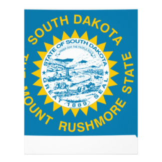 Flag Map Of South Dakota Letterhead