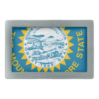 Flag Map Of South Dakota Rectangular Belt Buckle