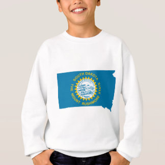 Flag Map Of South Dakota Sweatshirt