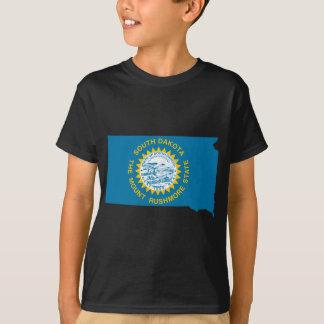 Flag Map Of South Dakota T-Shirt