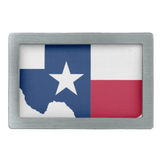 Flag Map Of Texas Belt Buckle
