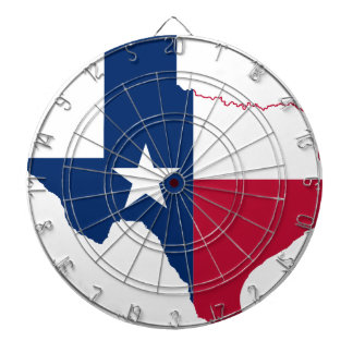 Flag Map Of Texas Dartboard