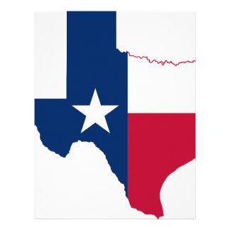 Flag Map Of Texas Letterhead