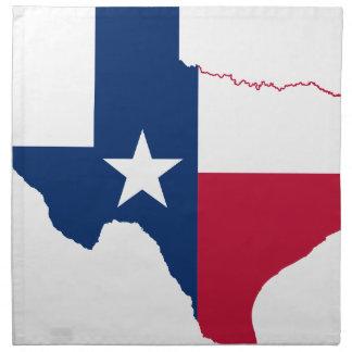 Flag Map Of Texas Napkin