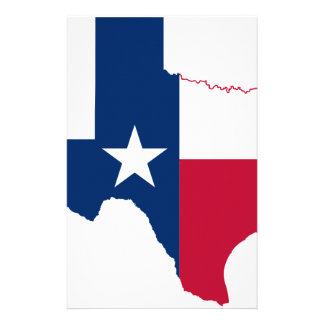 Flag Map Of Texas Stationery