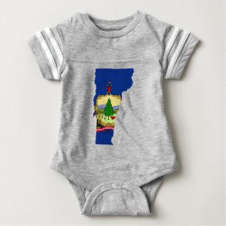 Flag Map Of Vermont Baby Bodysuit