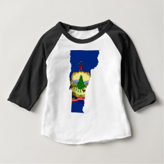 Flag Map Of Vermont Baby T-Shirt