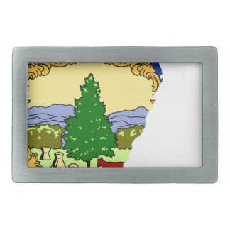 Flag Map Of Vermont Belt Buckle