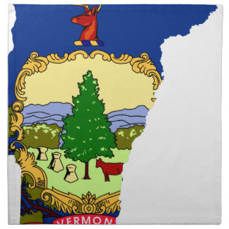 Flag Map Of Vermont Napkin