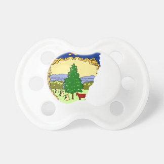 Flag Map Of Vermont Pacifier