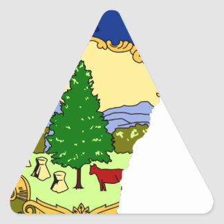 Flag Map Of Vermont Triangle Sticker