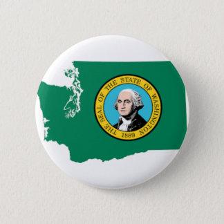 Flag Map Of Washington 2 Inch Round Button