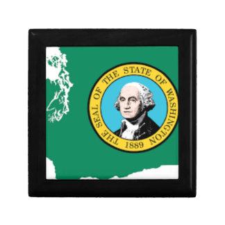Flag Map Of Washington Gift Box