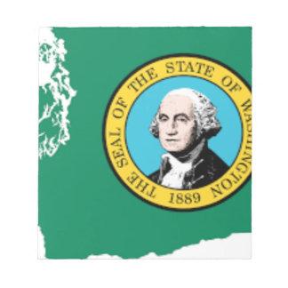 Flag Map Of Washington Notepad