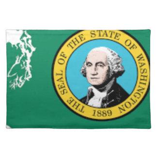 Flag Map Of Washington Placemat