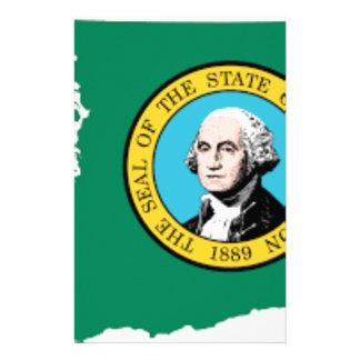 Flag Map Of Washington Stationery