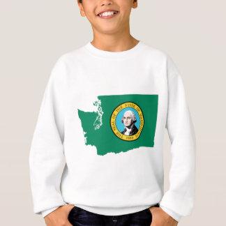 Flag Map Of Washington Sweatshirt
