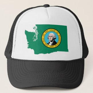 Flag Map Of Washington Trucker Hat