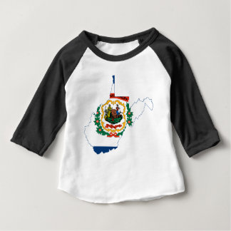Flag Map Of West Virginia Baby T-Shirt