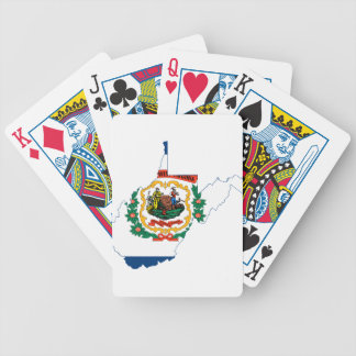 Flag Map Of West Virginia Bicycle Playing Cards