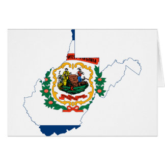 Flag Map Of West Virginia Card