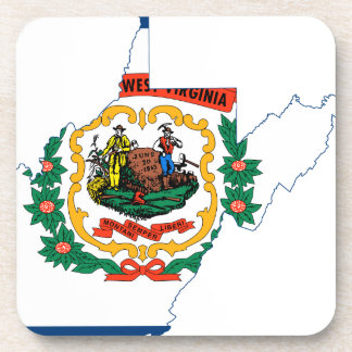 Flag Map Of West Virginia Coaster