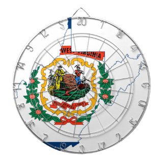 Flag Map Of West Virginia Dartboard