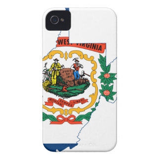 Flag Map Of West Virginia iPhone 4 Case-Mate Case