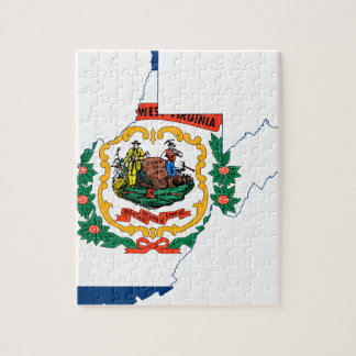 Flag Map Of West Virginia Jigsaw Puzzle