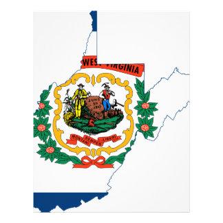 Flag Map Of West Virginia Letterhead