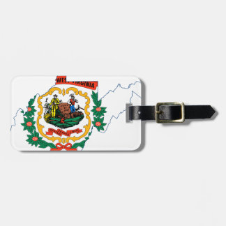 Flag Map Of West Virginia Luggage Tag