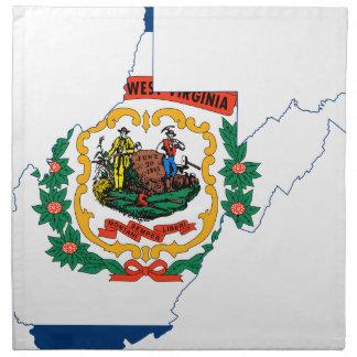 Flag Map Of West Virginia Napkin