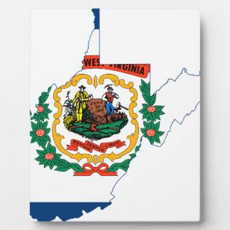 Flag Map Of West Virginia Plaque