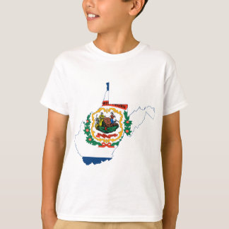 Flag Map Of West Virginia T-Shirt